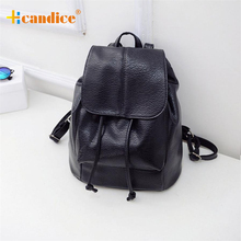 Hcandice Best Gift Hcandice New Fashion Women Leather Satchel Shoulder Backpack School Rucksack Bags Travel drop