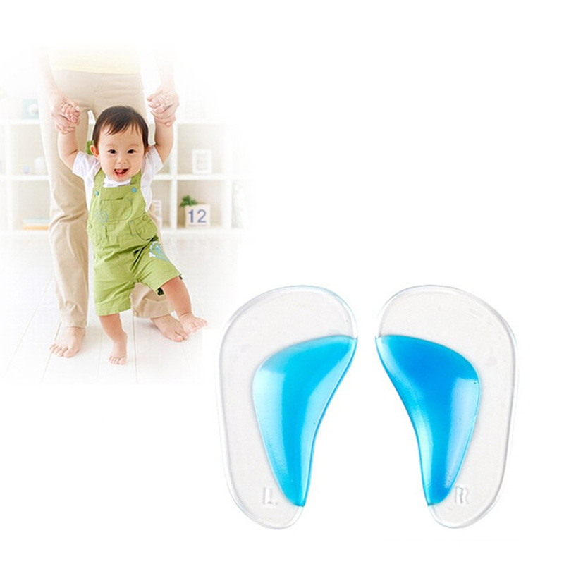 Kids Gel Orthotic Orthopedic Insoles For Children Shoes Flatfoot Corrector Arch Support Orthotic Pads Baby Toddler Insole
