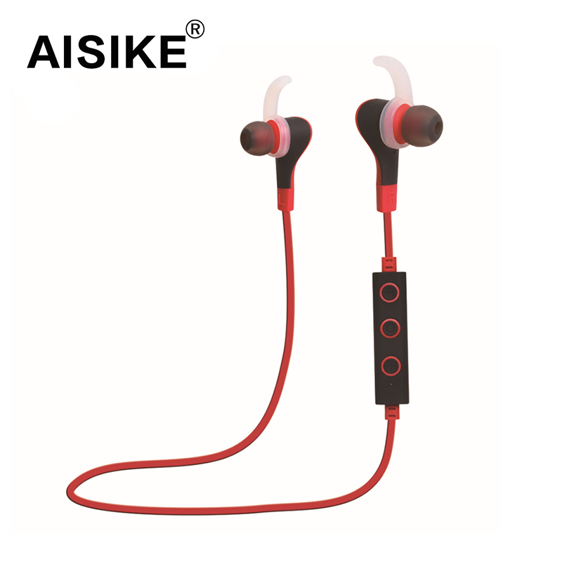 AISIKE New Wireless Bluetooth 4.1 Stereo Earphone Sport Running Studio Music Headset with Microphone For Iphone Samsung fw1s 2016 new arrival q9 wireless bluetooth 4 1 stereo earphone sport running studio free shipping