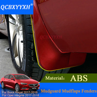 QCBXYYXH Car Styling Car Mud Flaps For Buick Regal Opel Insignia 2017 2018 Sedan Mudflaps Splash