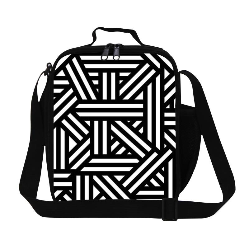 Geometric Lunch Box Bag for Boys,Stylish Lunch Bags for Children School,Adults reusable lunch container,mens cool work meal bag