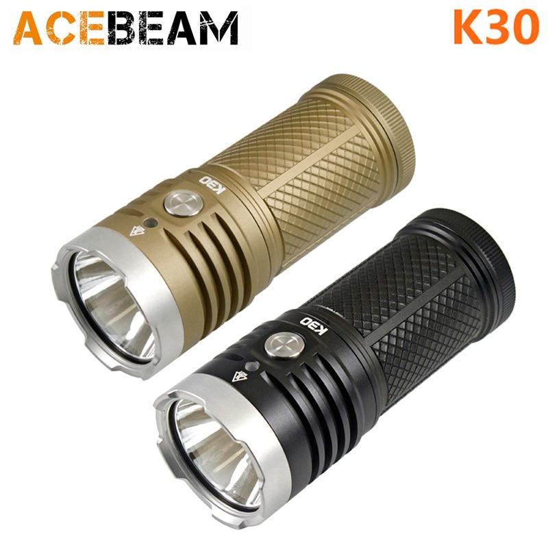 ACEBEAM K30 CREE XHP70.2 LED 5200 lumen 3*18650 Battery flashlight ultrafire m3 t60 3 mode 910 lumen white led flashlight with strap black 1 x 18650