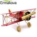 ERMAKOVA 29 см или 27 СМ Металлическая ручная работа модель самолета Модель биплана для домашнего декора предметы интерьера (красный цвет)