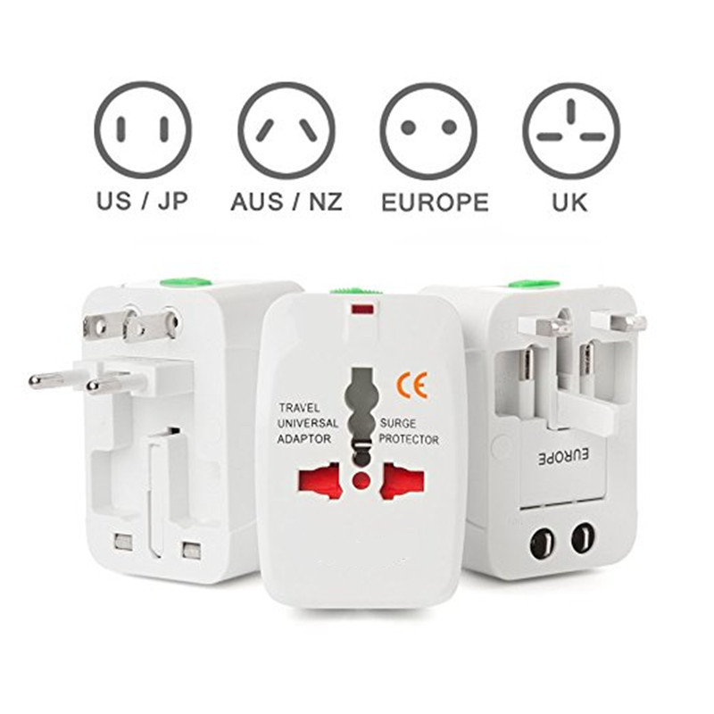 World Wide Universal Travel Plug Adapter All in 1 AC Power Charger Electrical Plug Adapter for AU EU UK US Plug