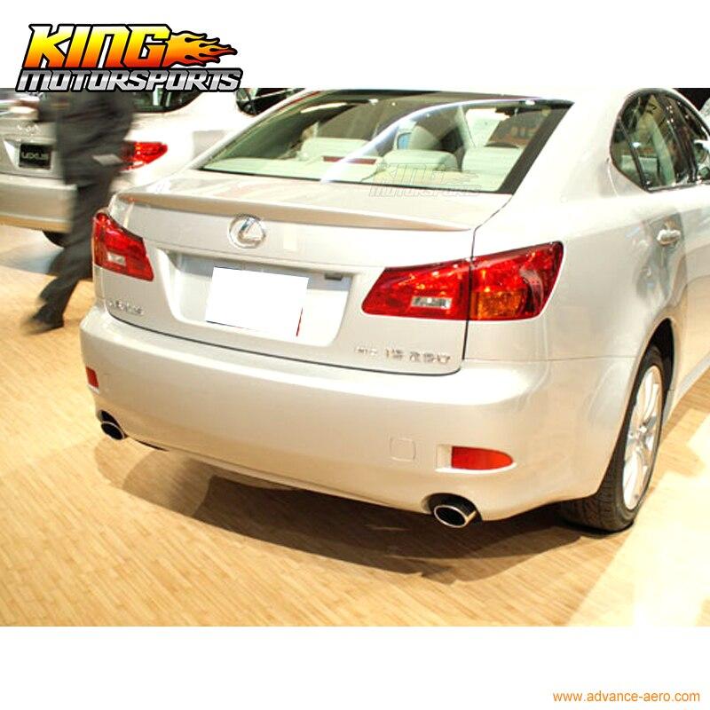 Fit 06-13 Lexus IS250 OE Sty #1G1 Tungsten Pearl Metallic Painted Roof Spoiler