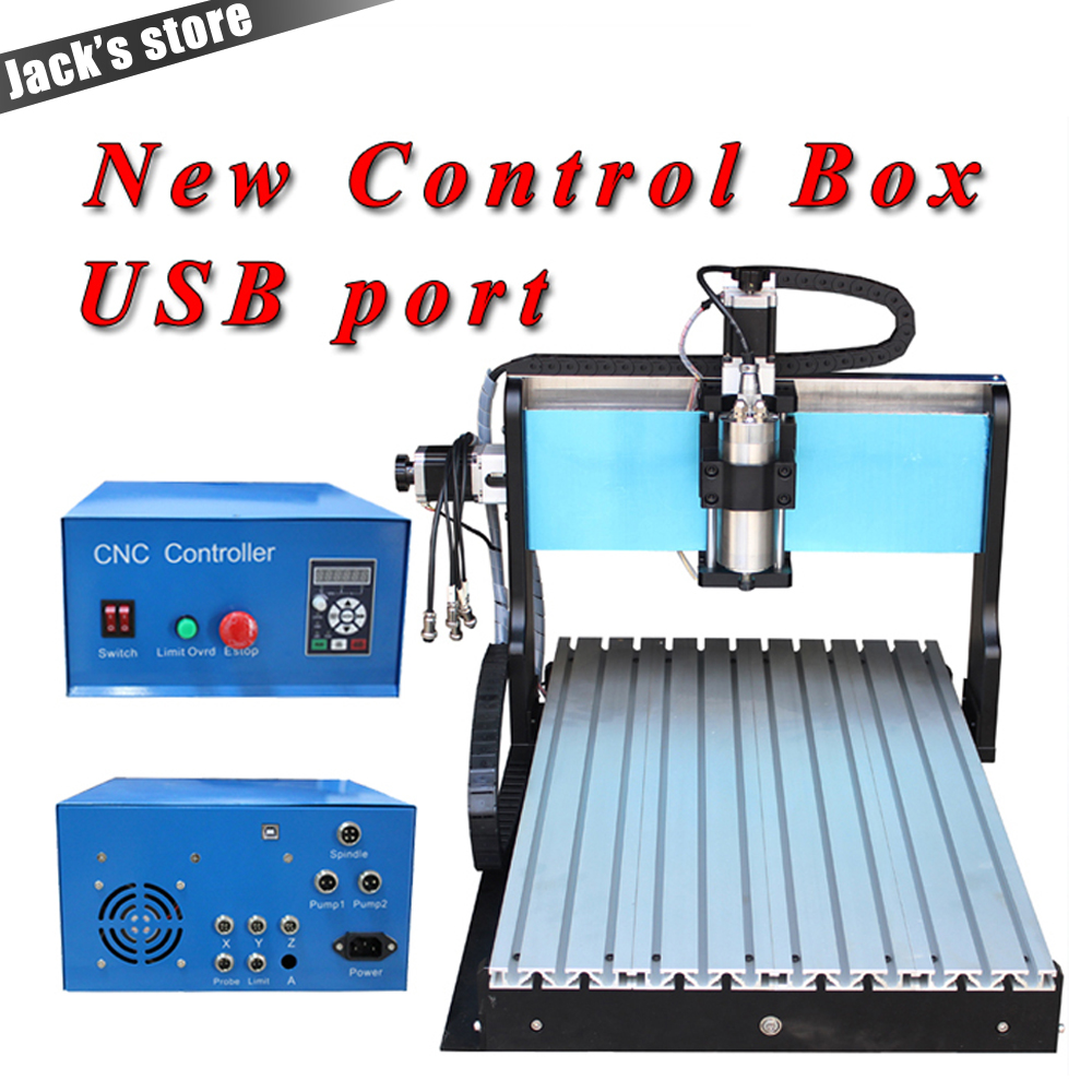 USB port !!! 6040Z-S++, 800W Spindle +1.5kw VFD CNC6040 CNC Router water-cooling Metal engraving machiney cnc machine CNC 6040 1pc 4axis cnc router 6040z usb mach3 auto engraving machine with 1 5kw vfd spindle and usb port for hard metal