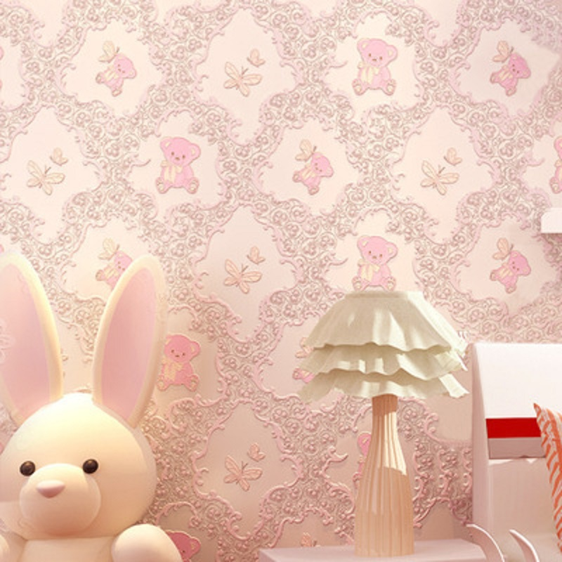 Self Adhesive Wallpapers cartoon bear Wallcoverings Vintage decal for kid room wallpaper &Wall Paper papel de parede 5 Meter акриловые обои hits wallcoverings vintage luxury sz001525