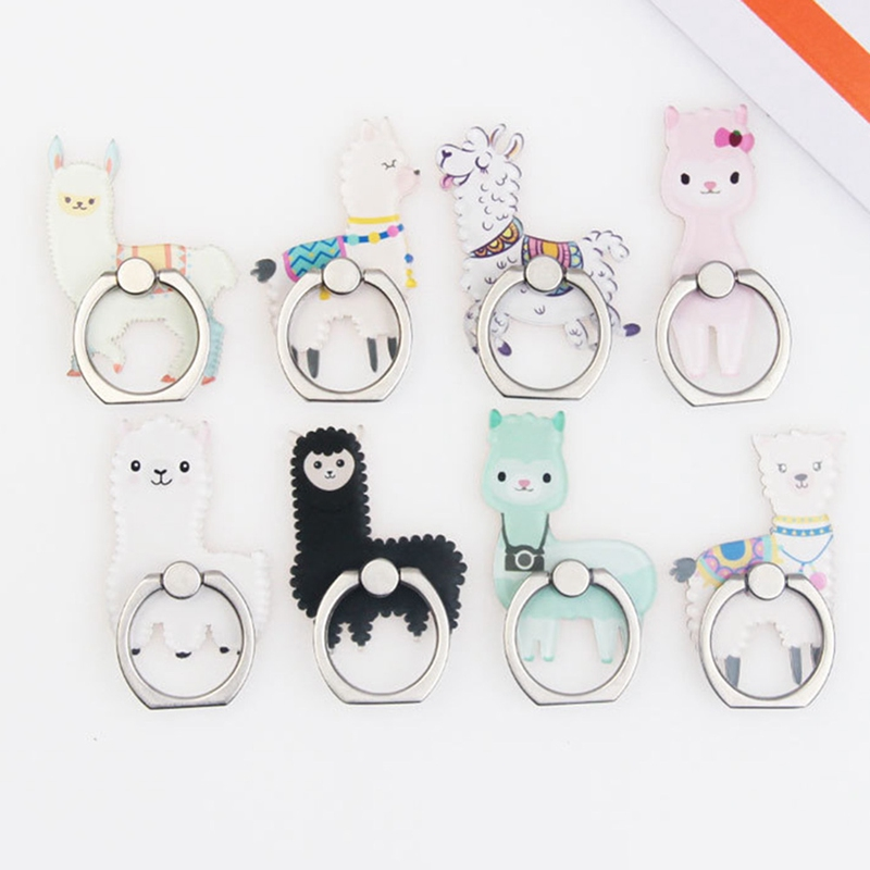 UVR Animal Mobile Phone Stand Holder Finger Ring Smartphone Cute Cat Holder Stand For Xiaomi Huawei All Phonee