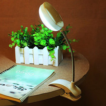 Eye-cared Flexible Clip-on Table Lamp LED Clamp Reading Study Bed Laptop Desk Bright Light 5 Units Ultra Bright LED Battery(China)