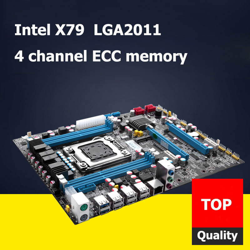 HUANAN Intel X79 motherboard X79 LGA 2011 motherboard ATX mainboard revision 2.47 RAM DDR3 4 channels max RAM 32G intel p55 atx lga1156 computer motherboard multicolored