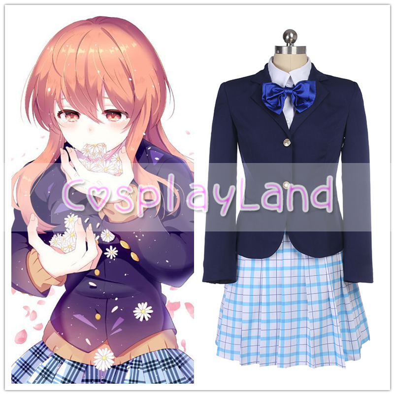 A Silent Voice Shouko Nishimiya Shoko Cosplay Costume Halloween Costumes for Women Custom Made Dress A Silent Voice Costumes