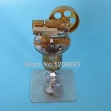 Stoommotor model, mini alle koperen ketel, kleine stoommachine, alcohol lamp verwarming gratis verzending