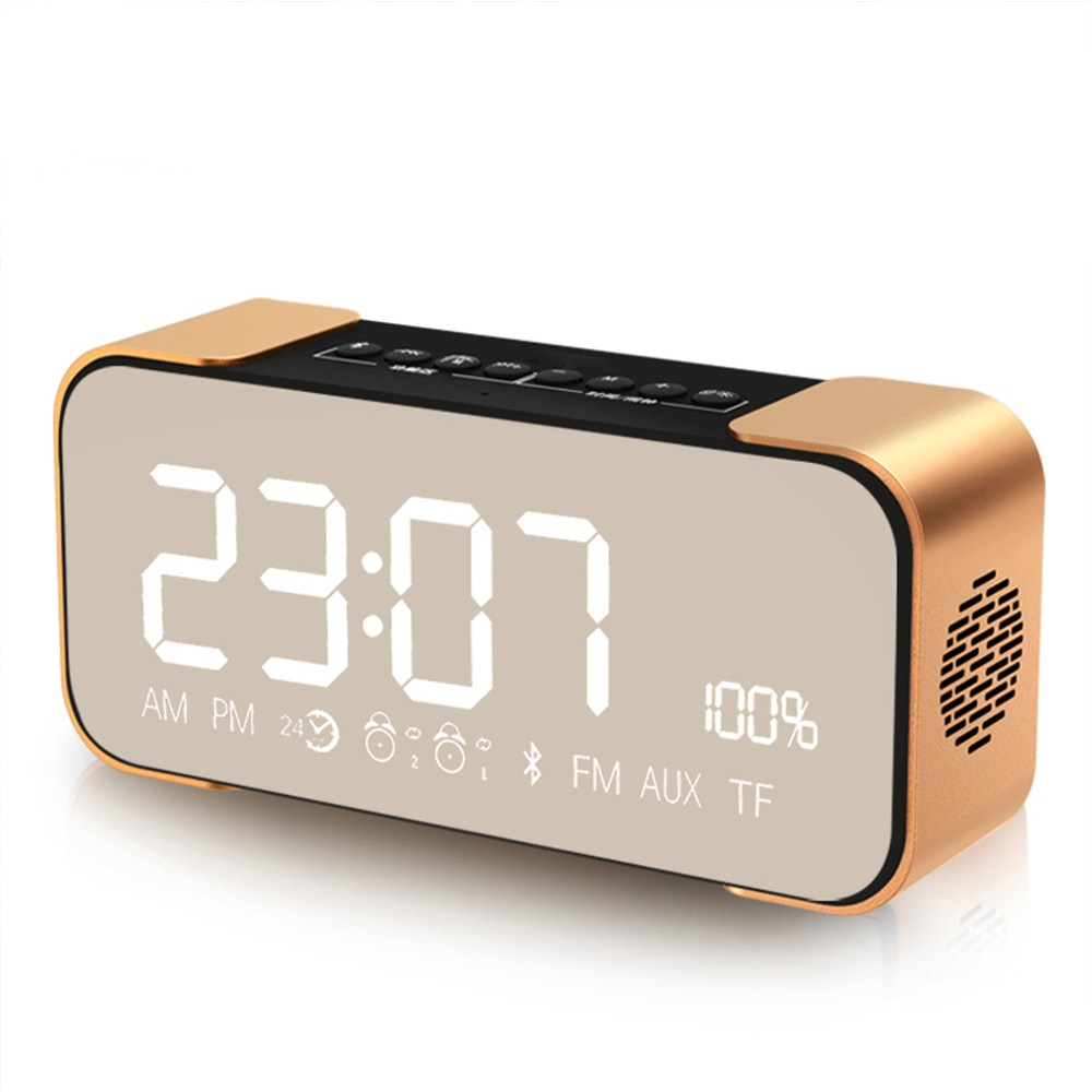 PTH-305 Portable Bluetooth Sound Box Wireless Speaker Stereo Super Bass Receiver Support FM Radio TF Car AUX Alarm Clock For car