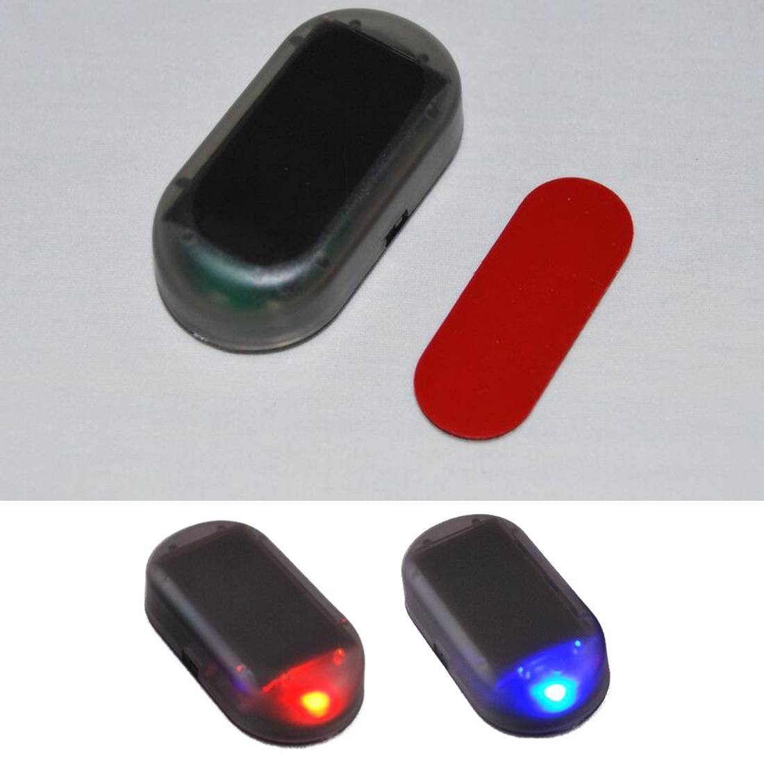 1PCS Useful Car Simulation Alarm Led Light Security Fake Solar Anti-theft Warning Lights Flash Blinking Car