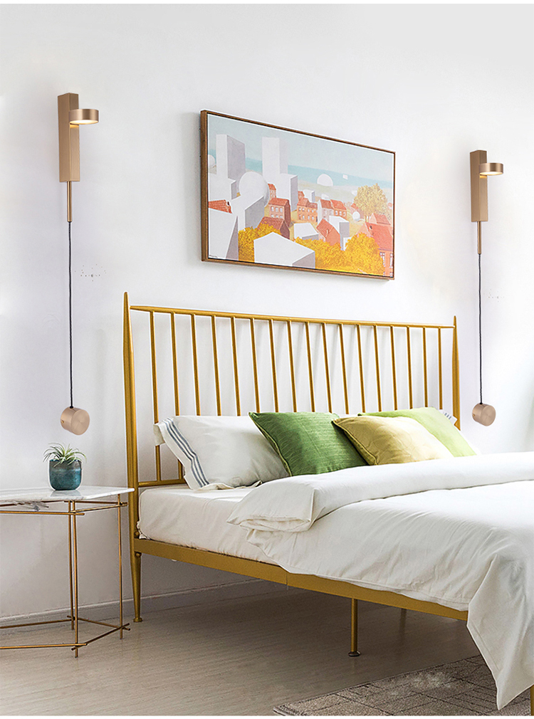criativa lâmpada parede cabeceira