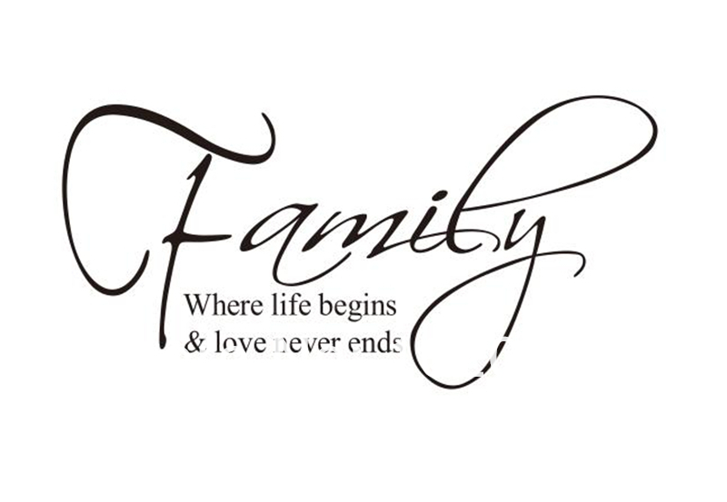 Happy Family Quotes Vinyl Wall Decals 3660cm Removable Waterpoof Beautiful Family  Quotes Getsubject Aeproduct