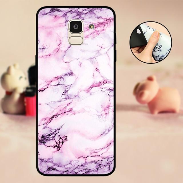sFor Samsung J6 Case Bumper Silicone Black sFor Samsung Galaxy J6 2018 Phone Case SM-J600F J600 J 6 Back Protector Soft Marble