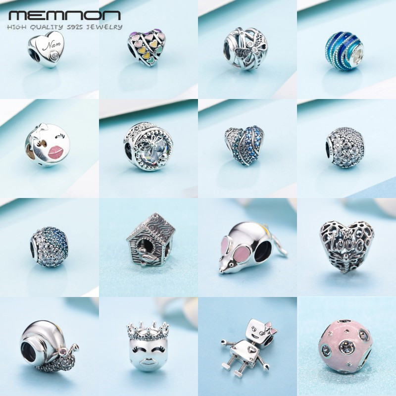 Memnon 2018 New spring collection charms 925 sterling silver fine jewelry heart Bella Bot beads fit bracelets necklace DIY BE538 lacywear костюм vokd 13 bot