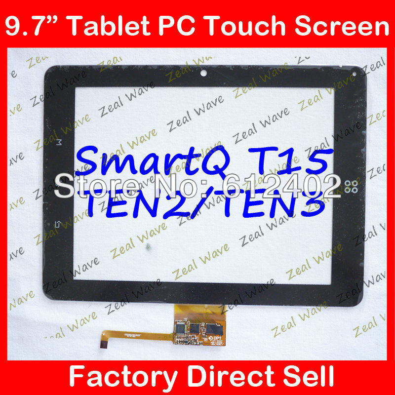 Original new 9.7'' inch Capacitive touch panel touch screen digitizer for SmartQ TEN2 TEN3 T15 Tablet PC MID original new 8 inch ntp080cm112104 capacitive touch screen digitizer panel for tablet pc touch screen panels free shipping