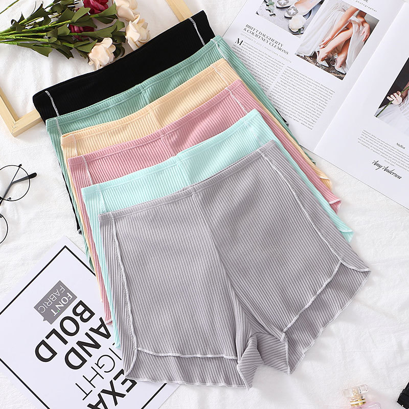 Women Safety Shorts Pants Mid Waist Panties Cotton Breathable Boxer Shorts Slimming Underwear Girls Women Seamless Shorts