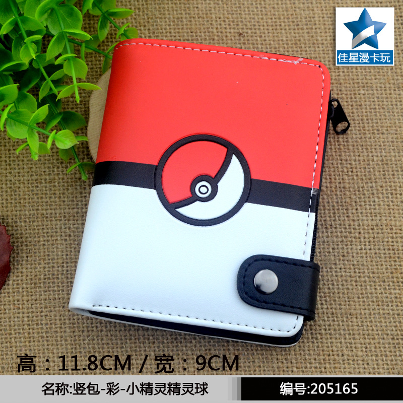 2017 new game pokemon go wallets cute anime wallet watch over PU Cartoon purse short wallet AB422 2016 anime one punch man wallets cute pu short cartoon long purse ab195