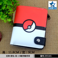 2017 new game pokemon go wallets cute anime wallet watch over PU Cartoon purse short wallet AB422