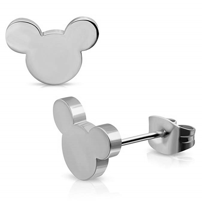 Todorova Lovely Cartoon Mickey Stud Earrings for Women Girls Kids Birthday Gift Cute Animal Mouse Earring Black Female in Stud Earrings from Jewelry Accessories