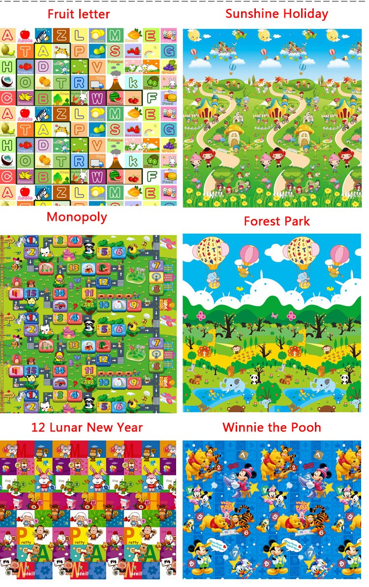 Tapete Infantil Baby Crawling Mat 2m1.6m0.5CM Both Sides Baby Toy Eva Play Mat Carpet Child Game Pad Mats For Children  (5)