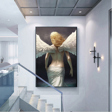 MUTU Canvas Painting Modern Home Decor Posters And Prints Golden Color Angel Wall Art Picture For Living Room No Frame