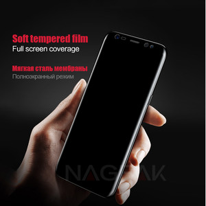 Image 5 - 4D Curved Soft Protective Film For Samsung Galaxy S8 S9 S10 Plus lite Note 8 9 S7Edge Full Cover Screen Protector s10 Plus Film
