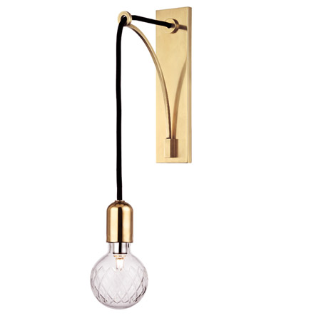 Led 5W Plated gold big bulb wal lamp sconce Postmodern Living Room Bedside Wall fixtures ...