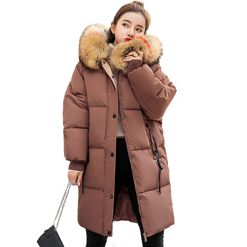 With Fur Hooded Women Winter Jacket Oversize Cotton Padded Female Coat Long Parka 2019 New Arrival Fashion Womens Jackets Warm