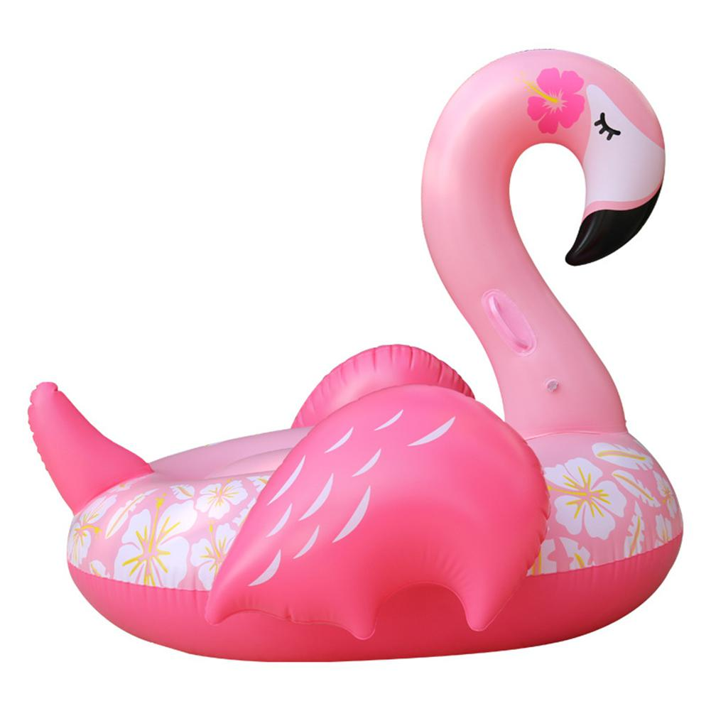 LeadingStar Adult Safety PVC Inflatable Swimming Seat Ring Cute Flamingo Design Floating Raft Life Buoy