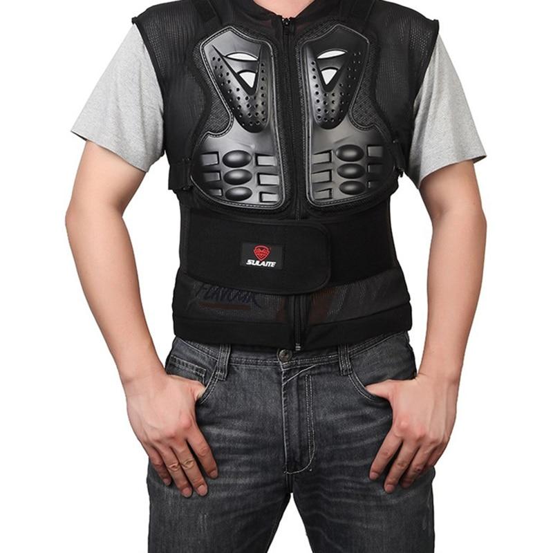 32c7ab1408d1 Sulaite Moto Non manicotto armatura Giubbotti Sci Body Armor Protezione  Posteriore Della Spina Dorsale Toracica Equipaggiamento