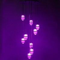 Iproled rgb + luminosità dimmerabile colore cct modifica controllo da remoto o smart phone k9 cristallo uovo di struzzo soffitto del led luce