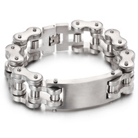 Supply Jewelry Wholesale Gold Motorcycle Bracelet Cool Men Titanium Steel Bicycle Bracelet