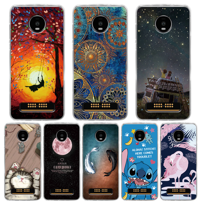 online retailer d25c1 5863a US $1.12 20% OFF|For Coque Motorola Moto Z4 Play Case Luxury Silicone Anti  knock Soft TPU Case For Moto Z4 Play Full Protective Cover Capa Fundas-in  ...