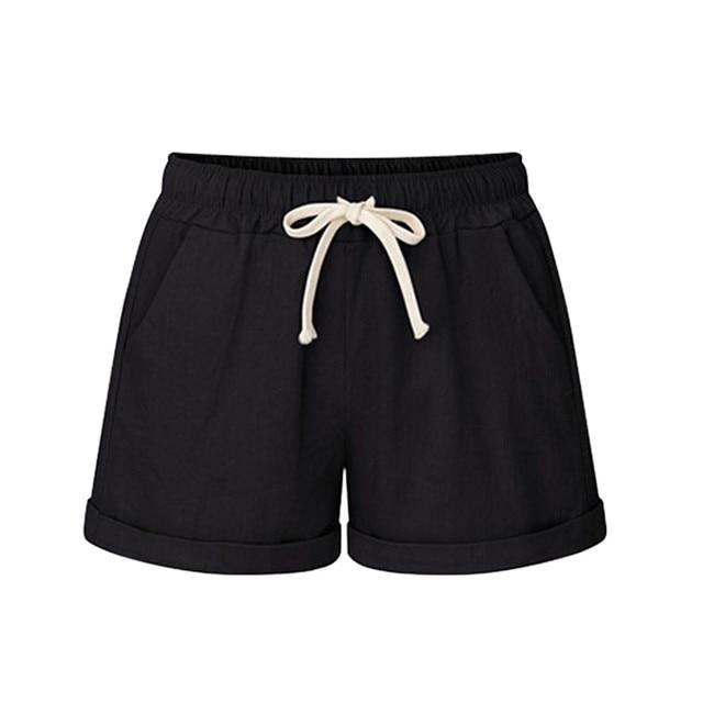Plus Size Pocket Shorts women Summer 2019 Streetwear Casual Drawstring Running Gym Sports summer shorts Women short feminino 3