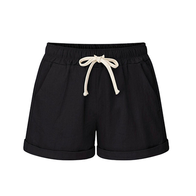 Plus Size Pocket Shorts for Women in Summer