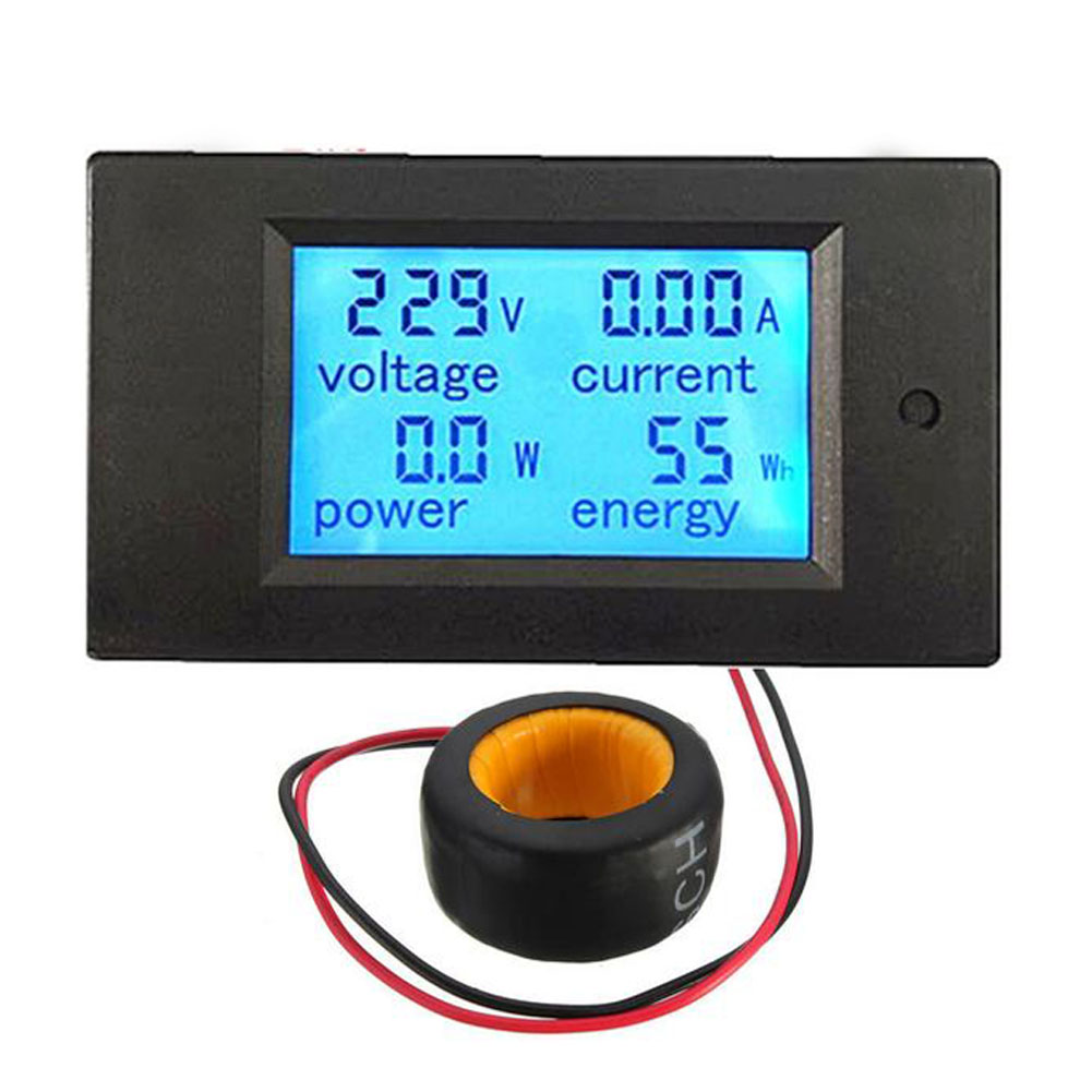 Digital LED Power Meter Monitor Panel Power Energy Voltage Current Tester Voltmeter Ammeter AC80 ~ 260V high precision accuracy 0 56 5 digits dc ammeter digital amp meter panel meter led current tester gauge monitor