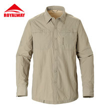 ROYALWAY Camping Hiking Shirts Quick Dry Breathable UV Proof 50+ Full Length Sleeves #RIM7037CS