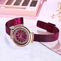 2019 Watches Women Top Brand Luxury Quartz Watch Women Fashion Relojes Mujer Stainless Steel Ladies Quartz Wrist Watches RW012F