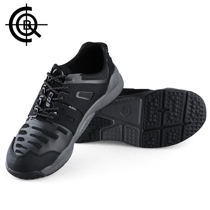 CQB Outdoor Hiking Shoes Men Low Heel Trekking Climbing Sport Shoes Trail Sneaker Shock Absorption Army Combat Boots CXZ0215