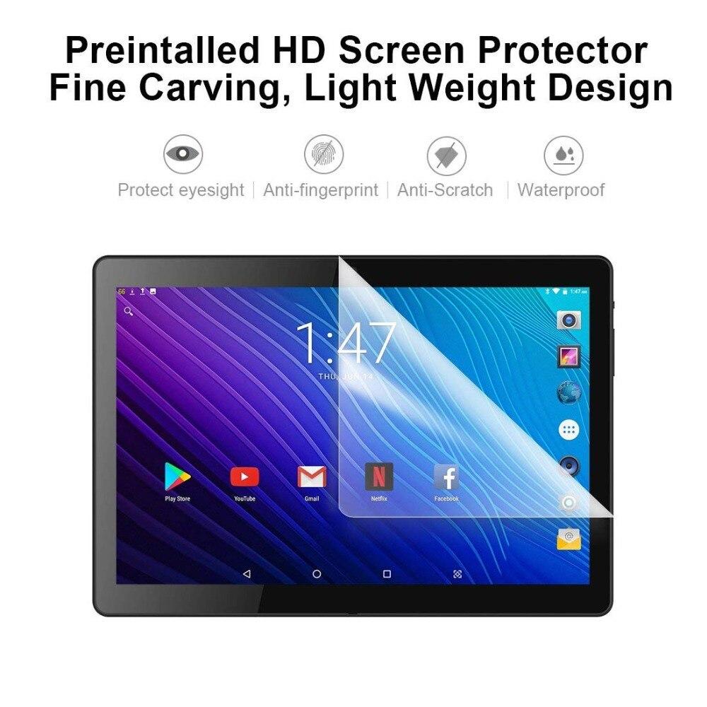 2020 novo design 10 polegada tablets android 9.0 os 6 gb + 128 gb rom câmera dupla 8mp sim tablet pc wifi gps 4g lte almofada do telefone móvel - 3