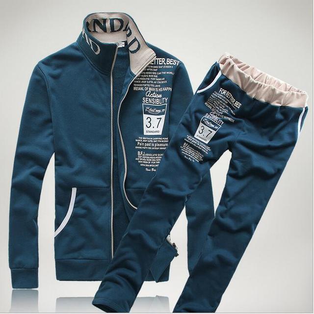 920e3f576a5493 US $32.49 35% OFF|Neue Marke Trainingsanzug Männer 2019 Herbst und Winter  Pullover Anzug Mode Bosco männer Kleidung Set Pullover + Hosen ...