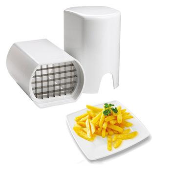 Krajalnica do ziemniaków warzywnych nóż francuski Fry Cutter Chopper Chips narzędzie do robienia ziemniaków cięcie gadżetów kuchennych tanie i dobre opinie Francuski fry przecinaki JJ63099 STAINLESS STEEL Owoców i warzyw narzędzia