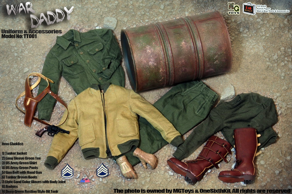 Mg Toys War Daddy 1 6 Fury World War Ii U S Brad Pitt Tank Corps