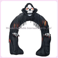 Airblown halloween decoration inflatable arch with Grim Reaper for outdoor use