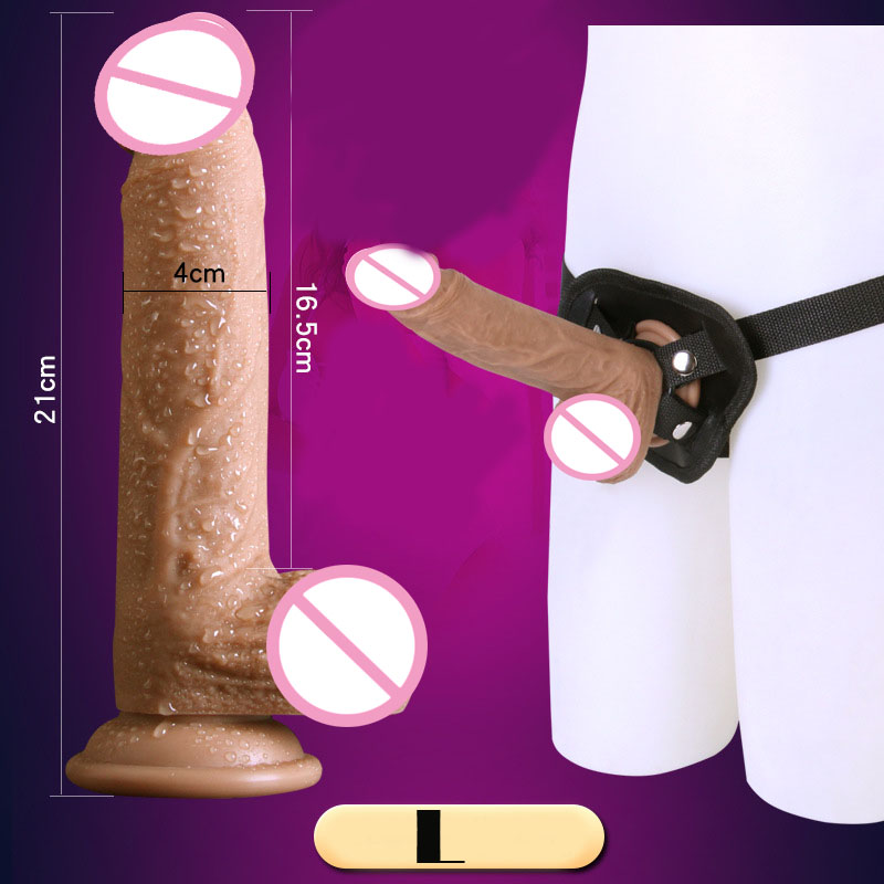 Strap On Dildo Realistic Dildo Suction Cup Realistic Penis Lesbian Dildos Strapless Strapon Soft Strap On Dildo For Men Women strapon dildo with suction cup adult couples game sex toy strap on penis lesbian women masturbator fake penis erotic sex shop