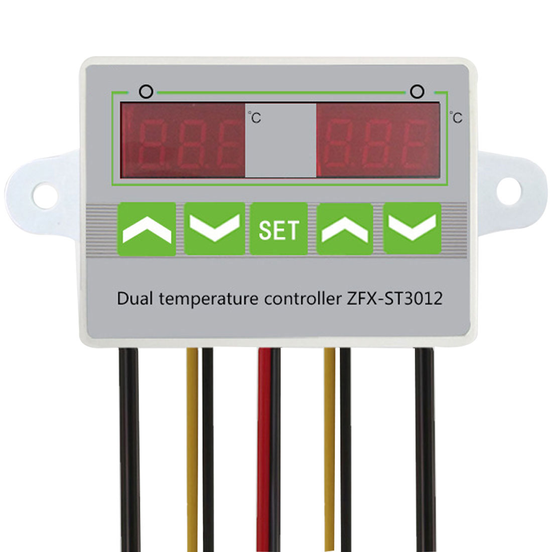 AC 12V 24V 220V Microcomputer Digital Dual Thermometer Temperature Controller Thermostat Incubator Control Dual Probe смартфон ginzzu s5140 белый
